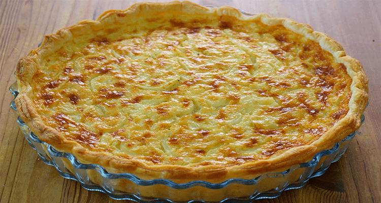 preparar tarta de cebolla y queso