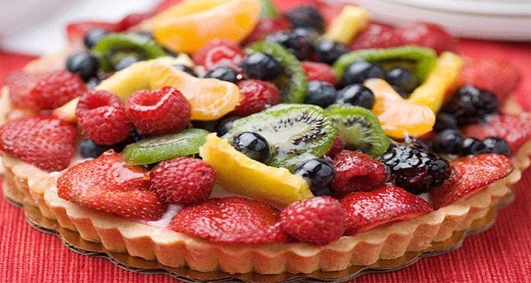 preparar tarta de frutas