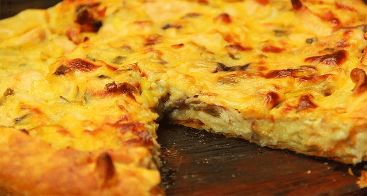 preparar tarta de pollo y puerro