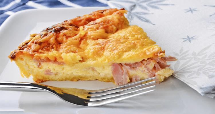 preparar tarta jamon y queso