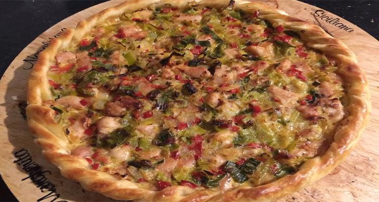 Receta de Tarta de Pollo y Puerro  【Deliciosa 🤤】