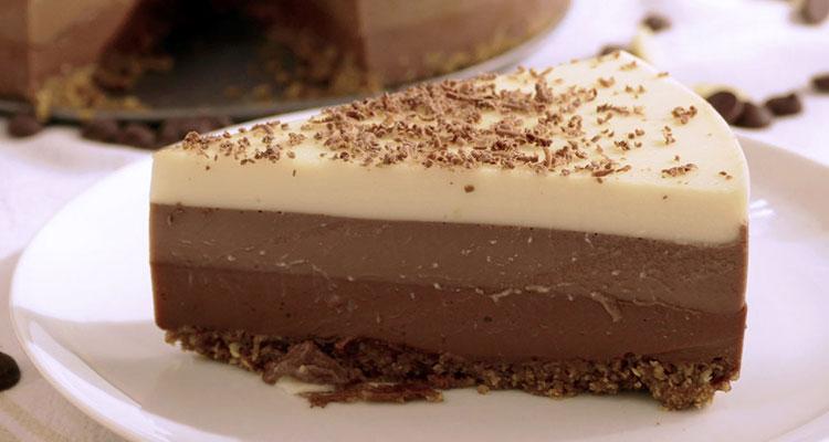 Receta de Tarta Tres Chocolates en Thermomix  【Deliciosa 🤤】