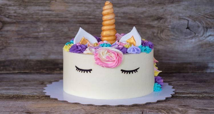 preparar torta de unicornio