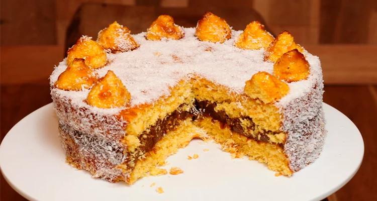 Receta de Torta de Coco y Dulce de Leche